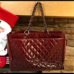 CHANEL Bags - Authentic red Chanel tote handbag